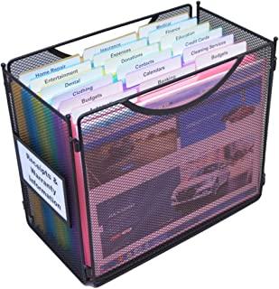Ultimate Office 迷你网格桌面文件盒便携式项目收纳包,配有 18 个三切口袋文件