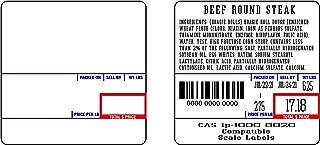 CAS 8020 印刷比例标签,58x60毫米,UPC成分,每卷500个标签,每箱24卷。