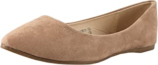 BELLA marie angie-53女式经典尖头芭蕾舞懒人麂皮女士平底鞋