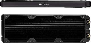 CORSIAR 美商海盗船 Hydro X 系列,XR5 360 毫米水冷却散热器(三个 120 毫米风扇安装,易于安装,优质铜结构,高品质聚氨酯,集成风扇螺丝导轨),黑色