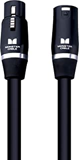 Monster 魔声 Prolink Studio Pro 2000 麦克风电缆 – 金色触点 XLR,20 英尺