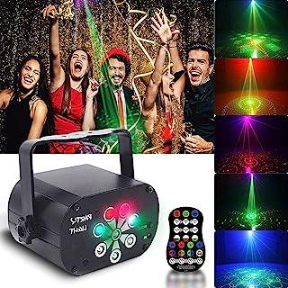 派对灯声激活遥控 Dj 迪斯科舞台带 L-e-d 投影机装饰礼品生日婚礼闪光灯光时间功能圣诞卡拉 OK Ktv 酒吧光束假日阶段 - 3