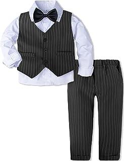 A&J DESIGN 男婴绅士套装,3 件外套衬衫,背心和裤子