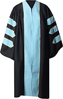 GraduationService 中性款豪华毕业*长袍,带金色滚边,可定制