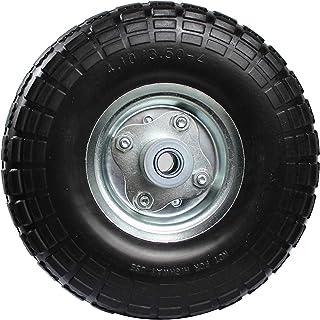 MaxxHaul 50501 花园推车,袋状手推车和手推车 5/8 英寸(约 1.9 厘米)轴孔 4.10 x 3.5 - 4 英寸(约 10.2 厘米)平自由锯齿胎面替代轮胎,黑色