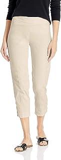 SLIM-SATION 女士套穿纯色紧身七分裤,带假 L 型口袋和蕾丝