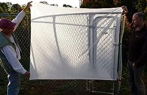 ALZO 扩散面料尼龙丝质白色轻修饰器,3 码长 152.4 厘米宽,未抛光边缘,剪式切割,适用于摄影、柔光箱和灯帐篷