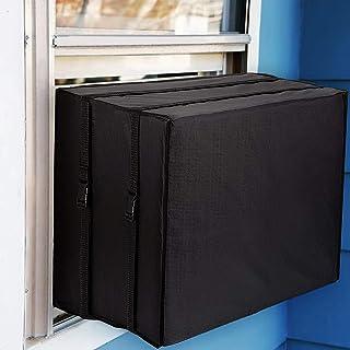 HVAC 黄色帽窗空调罩,适用于外部单元,冬季窗户空调罩,黑色防尘防水户外窗户交流保护罩(63.5 厘米宽 x 53.3 厘米深 x 43.18 厘米高)