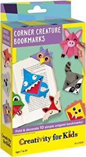 Creativity for Kids Corner Creature 折叠和装饰 10 个简单原始书签 84 months to 180 months Corner Creature Origami 书签