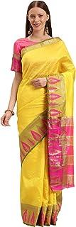 女式传统服饰设计师棉质丝绸纱丽衬衫件印度民族派对服装纱丽套装