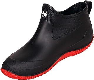 女式男式雨靴防水花园鞋防滑橡胶及踝靴洗车鞋休闲步行鞋