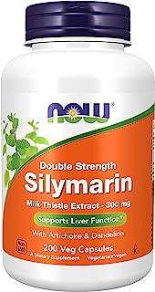 Now Foods 诺奥 水飞蓟素牛奶蓟提取物300毫克,含朝鲜蓟和蒲公英,双倍强度,有益肝脏,200粒蔬菜胶囊