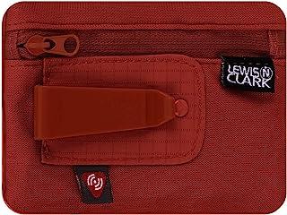 Lewis N. Clark RFID 屏蔽隐藏夹 收纳钱带 旅行袋 + 信用卡/身份证夹 适合女士和男士,锈色,均码