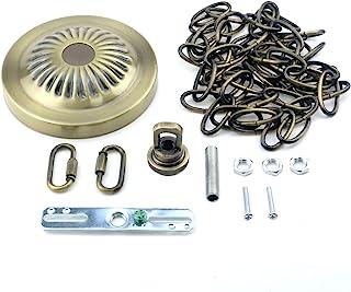 Tulead 青铜灯灯具灯罩套件铁天花板遮蓬套件 4.8 英寸(约 11.9 厘米)OD 复古吊灯灯具链配件