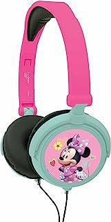 Lexibook Disney Junior Minnie Mouse 立体声耳机,儿童*、可折叠且可调节,粉红色/蓝色,HP010MN。