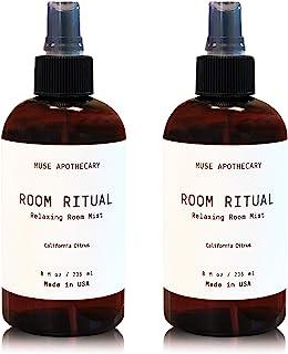 Muse 浴室Apothecary Room Ritual - 芳香放松房间喷雾,8 盎司,加入天然精油 - 加利福尼亚柑橘,2 包