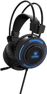 Rapoo VH200 发光游戏耳机,带 LED 照明和个性化声音模式,黑色,10.2 x 22.5 x 19.4 厘米