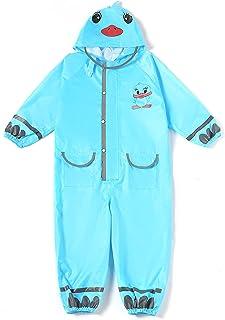 TIME LOVER 儿童雨衣,卡通儿童幼童雨衣夹克雨披男孩女孩2-12岁