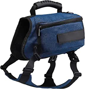Zoecherry 狗狗马鞍包 双肩包 狗狗旅行 露营 徒步背包 便携式多功能背包 适合大型和中型犬