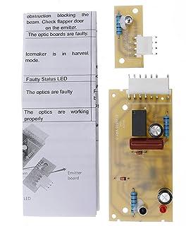 冰箱冰机发射器传感器控制板套件适用于Whirlpool Maytag Kenmore 替换 4389102 2198586 2220398 W10757851 AP5956767 ADC9102 PS557945