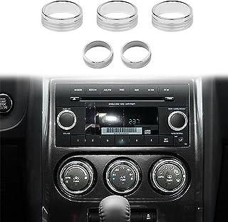 Voodonala 空调 CD 开关旋钮装饰 2009-2014 道奇挑战者银色铝合金 4 件