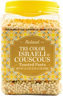 Roland Israeli Couscous, Tri-Color, 21.16 Ounce (Pack of 4)