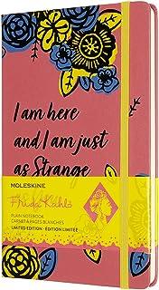 Moleskine 限量版 Frida Kahlo 笔记本,空白页笔记本,精装和弹性封口,大号 A5 格式 13 x 21 厘米,粉红色,240 页