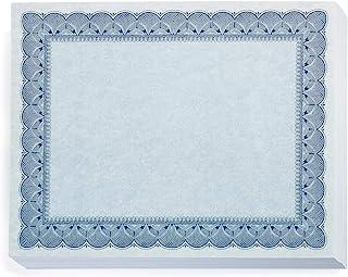 传统蓝色证书,蓝色增强,8.5 x 11,100 件