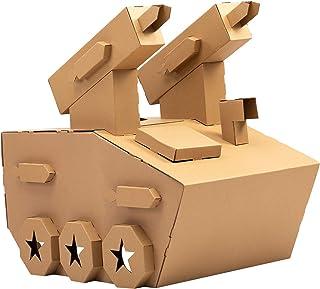 iBonny DIY 玩具室内游乐屋 纸板游戏屋 *坦克装甲汽车玩具 装甲战车 纸板房屋 适合幼儿和儿童