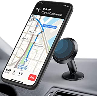 ORIbox 车载手机支架,磁性手机车载支架,360° 旋转车载手机支架,兼容 iPhone 12/11 Pro Max XS Max XR X 8 7 6S Plus SE 2020 12 mini,Samsung 三星 Galaxy