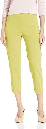 SLIM-SATION 女士套穿紧身七分裤,正面斜口袋,包覆舒适