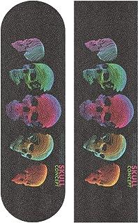 """彩色骷髅滑板抓地带 9""""x33"""" 防滑砂纸长板滑板车"""