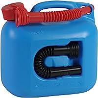 燃料罐 PREMIUM 5l 适用于汽油、柴油和其他危险品,联合国认证,德国制造,通过 TÜV 认证生产,蓝色