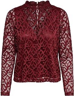 ONLY 女士 Onldora L/S 蕾丝上衣 JRS 长袖衬衫