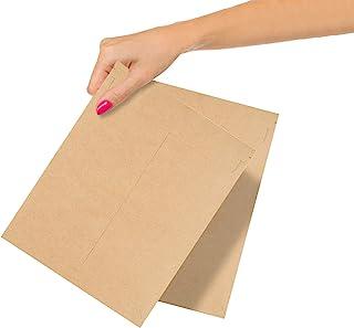 ABC 10 件装天然牛皮纸固定平邮箱 7 x 9 棕色纸板运输信封 7x9 硬质纸板邮寄袋 用于存放文件、照片、印刷品的摄影邮寄纸。撕标签。批发