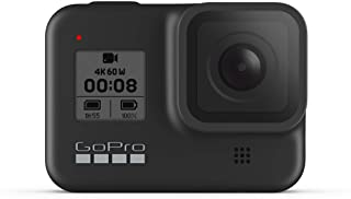 GoPro HERO8 黑色 - 防水动作相机带触摸屏,4K 超高清视频 1200 万像素照片 1080p 实时流稳定
