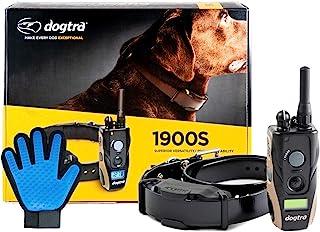 Dogtra 1900S 狗狗训练项圈,带遥控 3/4 英里(约 1.9 公里)范围狗狗定位器 - 包括极限消费品软硅胶宠物*手套