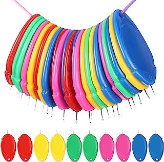 针线器塑料线圈 DIY 简单针线器手动机器缝纫工具,用于手工缝纫工艺用品,5 种颜色(10 件)