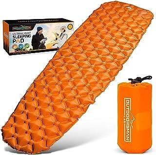 户外运动员实验室超轻睡垫 - 超紧凑,适合背包、露营、旅行,采用超舒适的空气支撑单元设计.