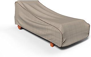Budge P2W02PM1 英式花园露台躺椅罩重型防水超大双色棕褐色