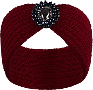 VIJIV 女式超寬鉤針頭巾頭巾頭巾,女式時尚頭飾擋板帽頭套
