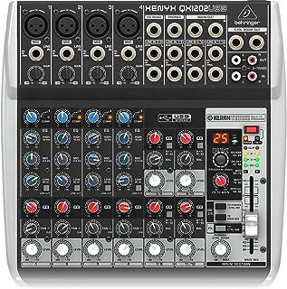 优质 12 输入 2 总线混音器,带 XENYX 麦克风前置放大器/压缩机/英式 EQs/24 位 Multi FX 处理器和 USB/音频接口