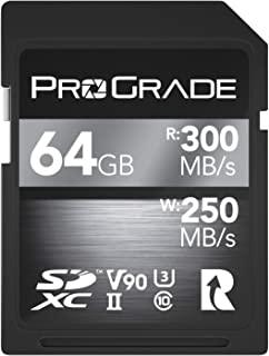 SD 卡 V90 - 高达 250MB/s 的写入速度和 300 MB/s 读取速度 | 适用于专业录音师、电影制作者、摄影师和内容记录器 - 包括更新固件 - 由 ProGrade Digital 出品 128GB