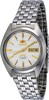 Orient #FAB0000DW 男式 3 星不锈钢银色表盘日间自动手表