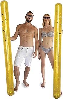 POZA 2 件装充气巨型泳池面条浮块 - 高级奢华 74 英寸(约 197.1 厘米)巨型浮面,装满闪亮五彩纸屑,泳池浮动,适用于游泳池、海滩和湖泊
