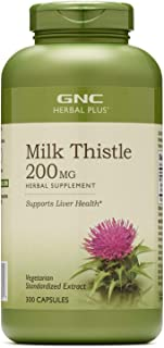 GNC Herbal Plus Milk Thistle for Liver Support, 200mg