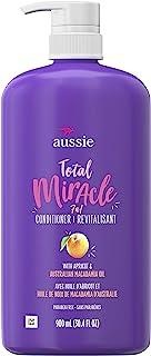 Aussie 奇迹全能护发素,不含对羟基苯甲酸酯,杏子,30.4盎司,900毫升/瓶(4瓶),适合受损的发质