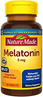 Melatonin 5mg Tablets, 90 Count for Supporting Restful Sleep