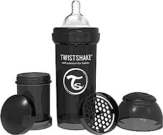 Twistshake - 喂养奶瓶2月 + 黑色 - 8盎司 美国直邮