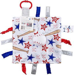 Baby Jack 10x10 感官学习可爱毛绒标签玩具 BASEBALL 10X10 PLUSH 10X10
